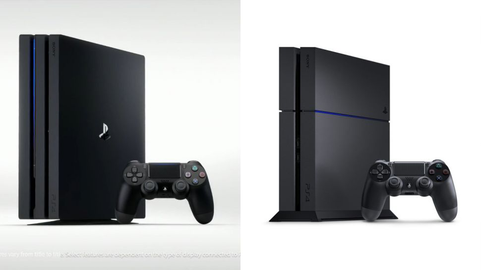 Foto de las dos consolas PS4 normal y PS4 Slim